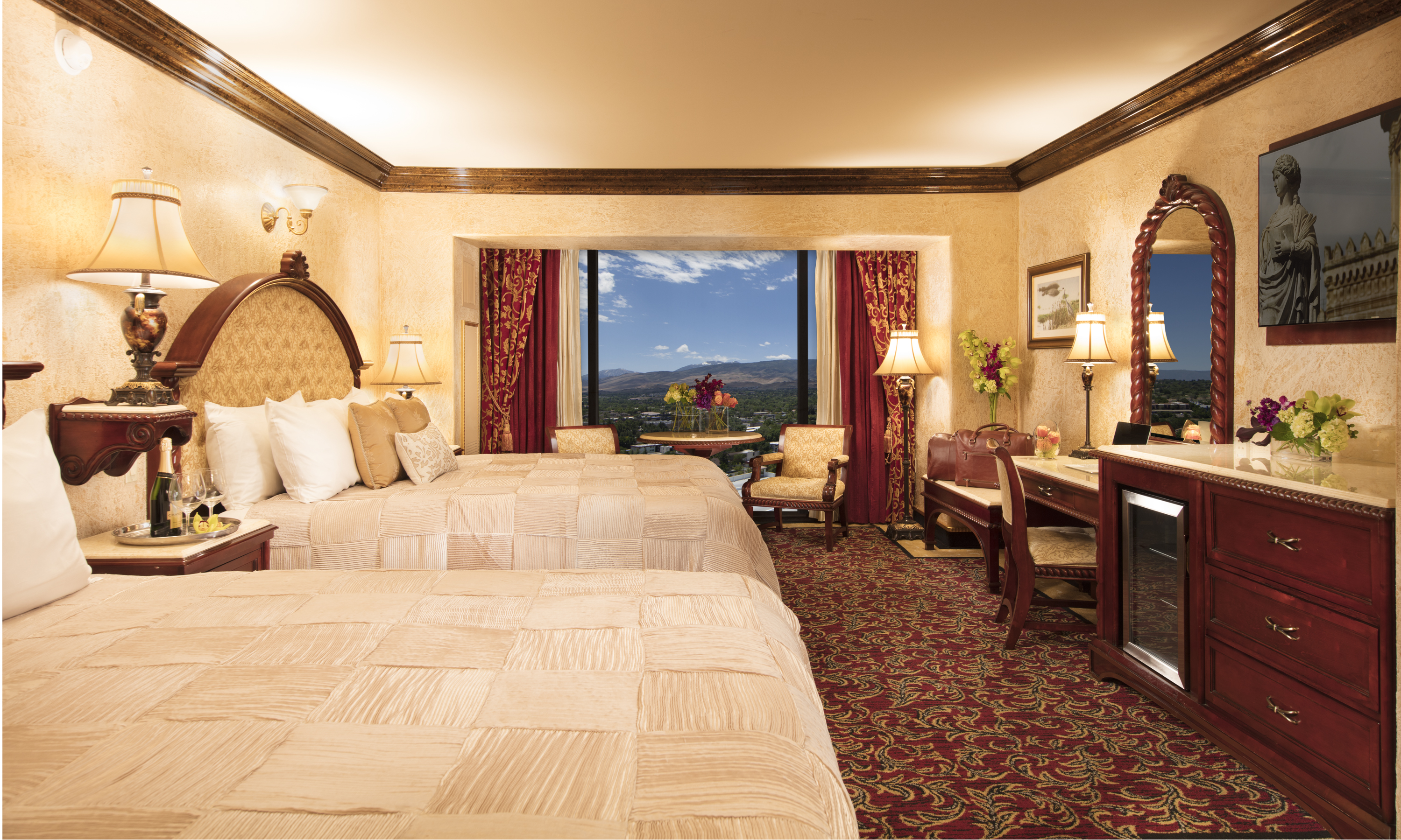 tuscany double king suite peppermill resort hotel reno