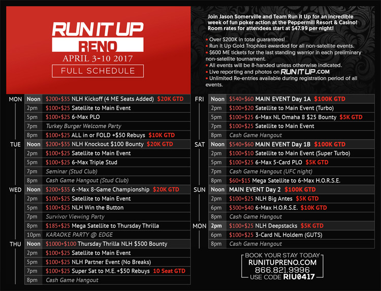 run it up schedule
