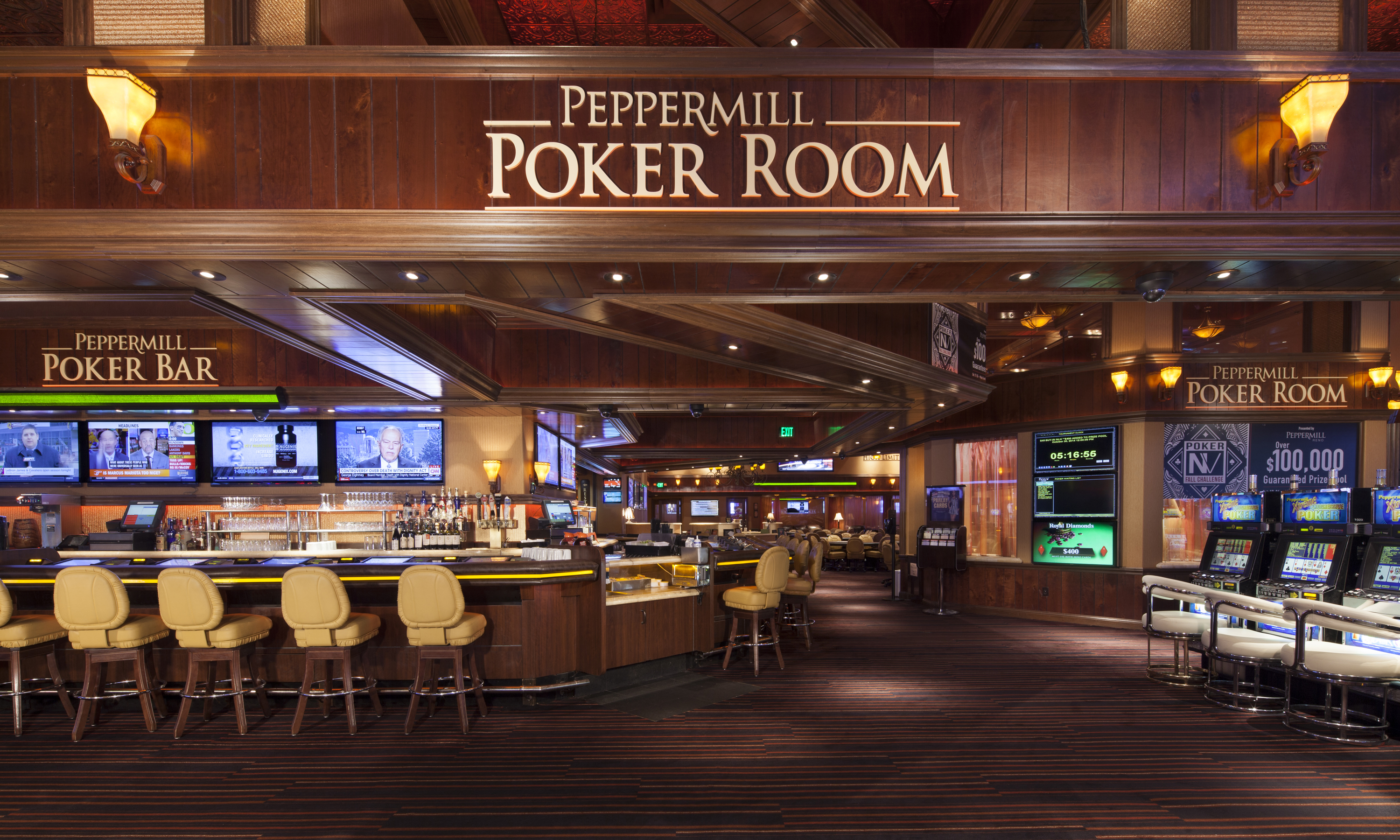 Tuscany villa suite peppermill resort hotel reno - Luxury Poker Room Peppermill Poker Reno