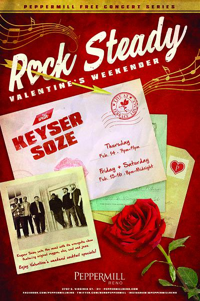 Rock Steady Valentine's Weekender with Keyser Soze