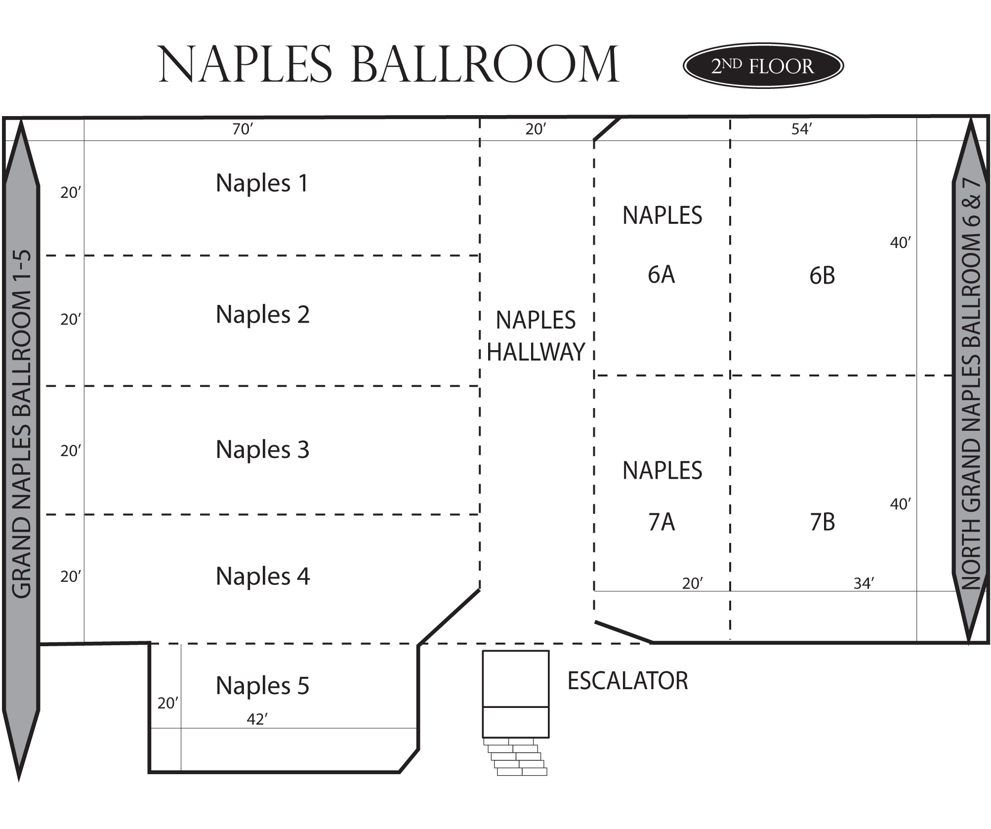 Naples Ballroom Floorplan