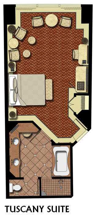 Tuscany villa suite peppermill resort hotel reno - Suite Floorplan 0 Tuscany King Suite Peppermill Resort Hotel Reno